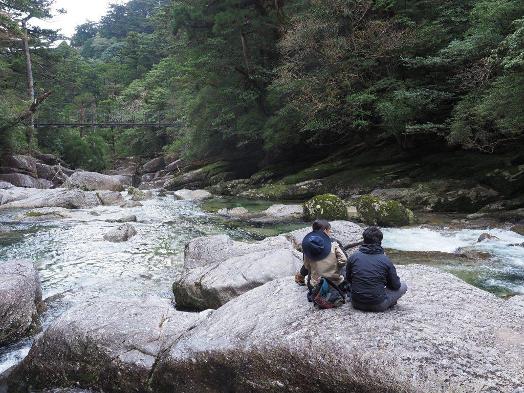 さつき川原で休憩