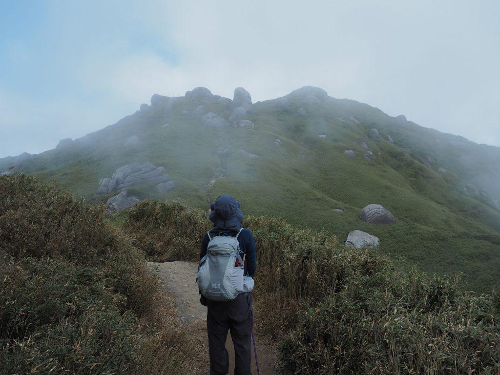 宮之浦岳山頂まであと少し