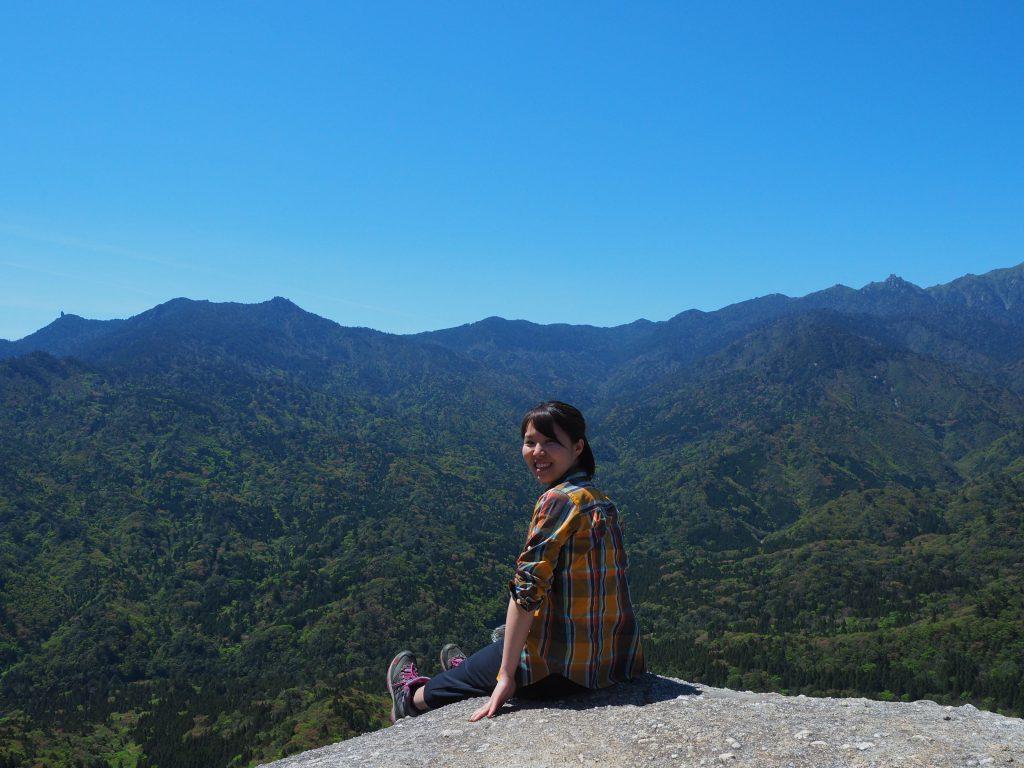 白谷雲水峡の太鼓岩からの眺め