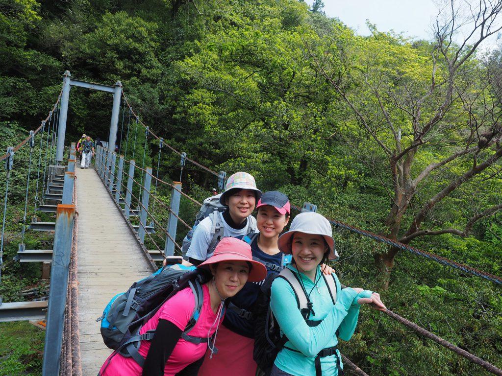 白谷雲水峡のさつき吊り橋