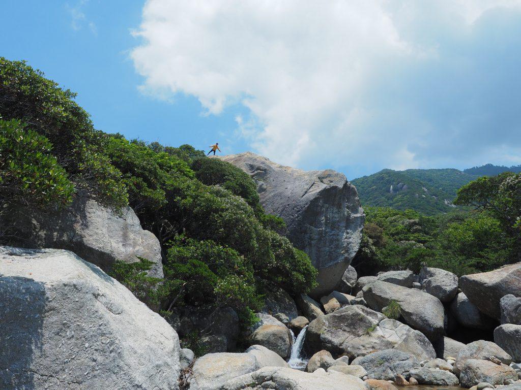 西部林道の大岩