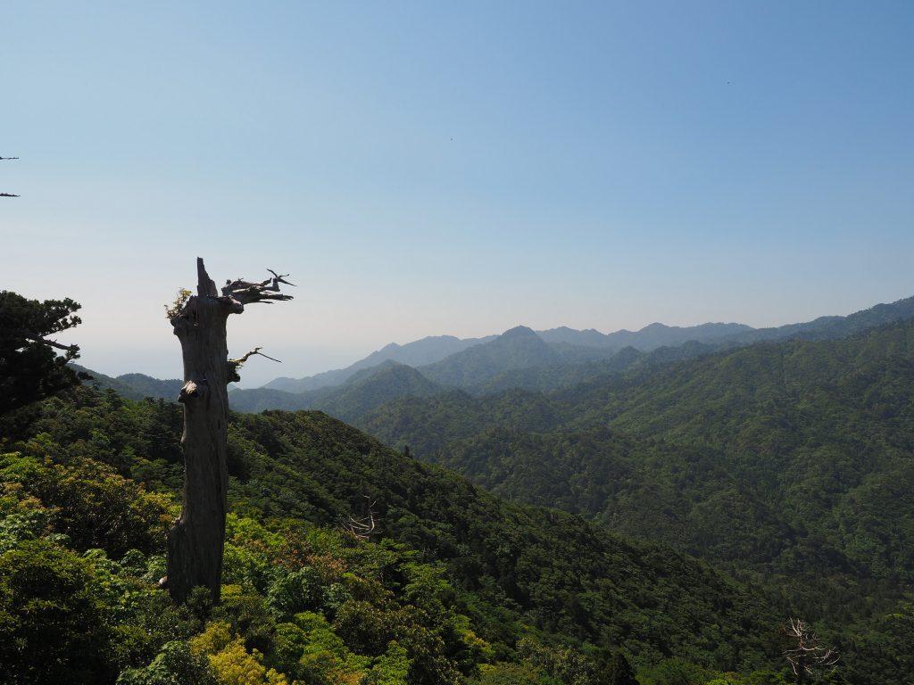 白谷雲水峡、太鼓岩からの景色