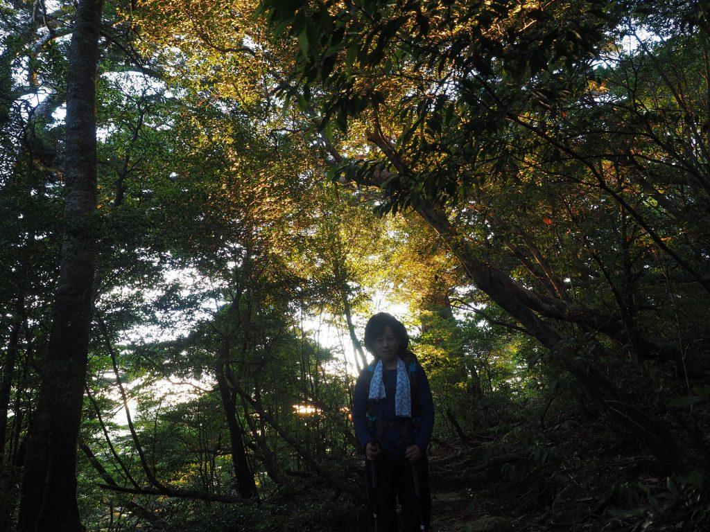 淀川登山口ちかくの朝焼け